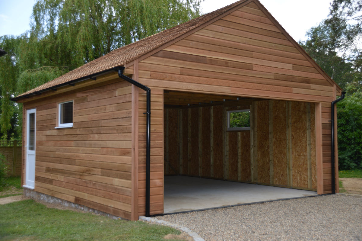 Recently Built Cedar Clad Garage Colt Houses